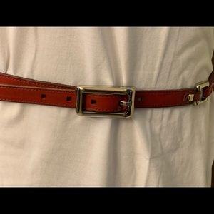 Women's Fossil Red Belt M